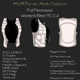Close Out Sale Full Permission Women's Biker MC Cut