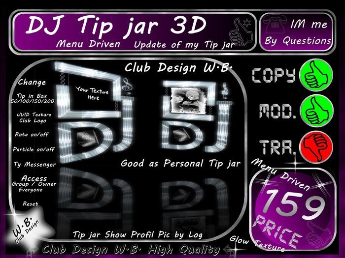* DJ Tip jar * >> 3D <<