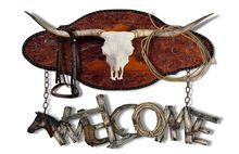 Western Longhorn Mounted Welcome