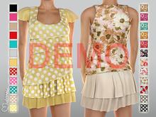 [DEMO] Mutresse . Lili Sheer Blouse with Skirt - 24 Fabrics (Rigged Mesh)