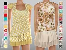 Mutresse . Lili Sheer Blouse with Skirt - 24 Fabrics (Rigged Mesh)