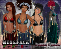 [Wishbox] Tribal Fusion Belly Dance Costume (Megapack) Goth Medieval Fantasy Dancer Genie Gypsy