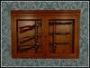 RE Rifle Wall Case - One Prim - Hanging Gun Cabinet