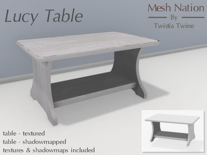 * Mesh Nation * FULL PERMISSIONS Lucy Table