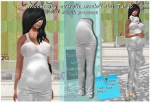 Maternity overalls mesh White / Lolas Tango