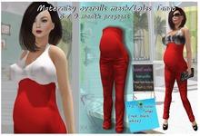 Maternity overalls mesh Red / Lolas Tango