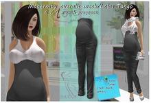 Maternity overalls mesh Black / Lolas Tango