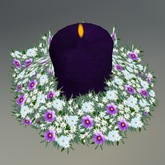 Multicolor Flower Sculpted Centerpiece with Multicolor Prayer Candle