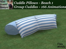 [WHD] -- Cuddle Pillows - Group Version - Beach 1 - C/M - 166 animations - 99 poses