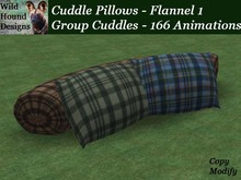 [WHD] -- Cuddle Pillows - Group Version - Flannel 1 - C/M - 166 animations - 99 poses