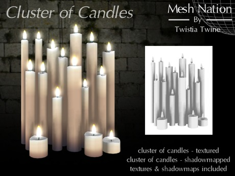 * Mesh Nation * FULL PERMISSIONS Cluster of Candles
