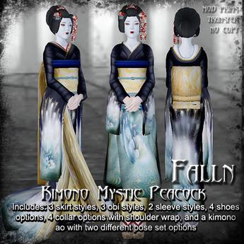 Falln Kimono Mystic Peacock