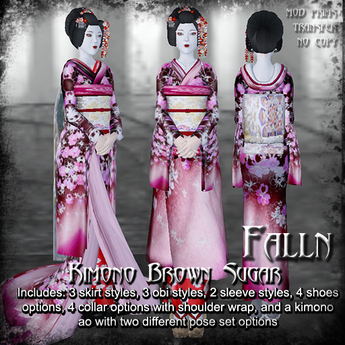 Falln Kimono Brown Sugar