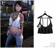 *C - Mesh top Sara (black)