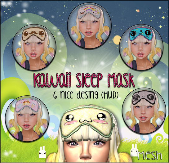NS::  Kawaii Sleep Mask (HUD)