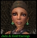 Jade & Gold Earrings (nc)