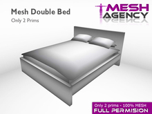 Mesh Double Bed - 2 prims - Full Perm