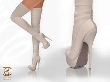 BAX Regency Boots Cream Leather