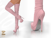 BAX Regency Boots Pink Leather