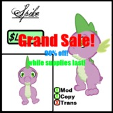 Spike the Dragon Avatar 90% off!