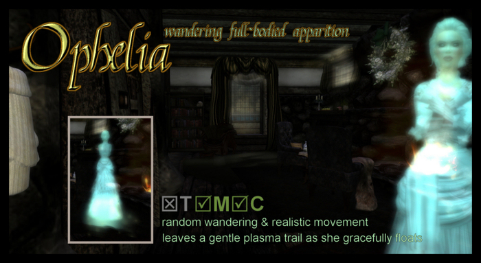[ Ophelia ] Wandering Female Vapoured Apparition [COPY/MOD]