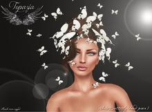 TOPAZIA- WHITE BUTTERFLY (head pieces)