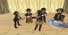 The INCREDIBLE  Hula Monkey Band Lg. Size Totally Animated