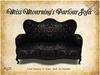[noctis] MESH Miss Mourning Black Damask Parlor sofa