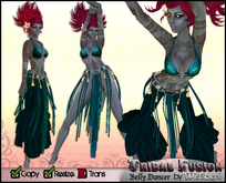 [WIshbox] Tribal Fusion (Teal) - Fantasy Gothic Belly Dance Dancer Outfit Costume