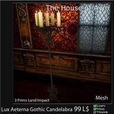 Lux Aeterna Gothic Candelabra - Mesh - White - Halloween Gothic Furniture