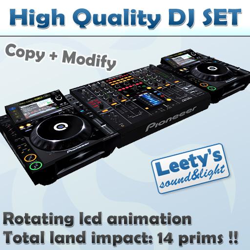 High quality DJ set pioneeer