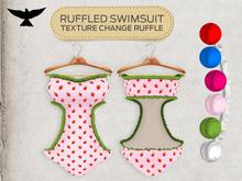 Lark - Ruffled Swimsuit - Strawberry
