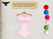 Lark - Ruffled Swimsuit - Pink