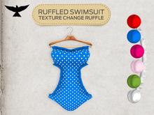 Lark - Ruffled Swimsuit - Blue
