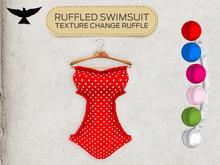 Lark - Ruffled Swimsuit - Red