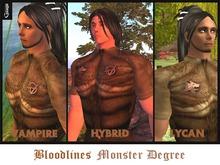 Gaagii - Monster Degree Package - Vampire, Lycan, Hybrid - (unisex)