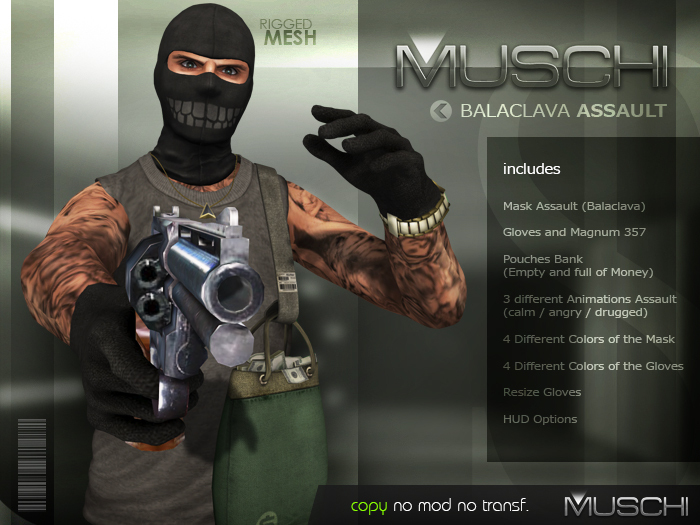 Balaclava Assault (Male) MUSCHI