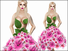 Boudoir -Hydrangea Dress Pink