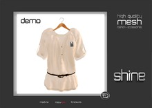 "shine by [ZD] - MESH - ""Nadja"" Belted Blouse"