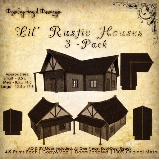 [DDD] Lil' Rustic Houses (3 Pack)
