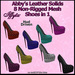 ALMOST FREE PROMO - Iffyta Abby's Leather Solids Stiletto Studded Mesh Heels