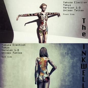 ~The INKWELL : yakuza election : Version 1.0 - Unisex Tattoo