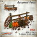 [Ginger Line] Autumnal Fence - Farm or garden Fall decor mesh set with 9 animations
