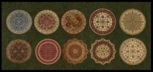 ♡ ! Bliss Designs ~ Round Rugs~ Now with Rug-O-Matic which Includes Ten (10) Beautiful Textures to Choose From.  Enjoy !