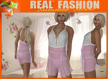 """REAL FASHION """"Candy girl"""" Teddy and thong lingerie set - Pink"""