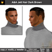 A&A Jett Hair Dark Brown (Special Color). Short men's hairstyle, matching tattoo layer hairbase