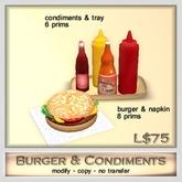 Hydro - Burger & Condiments - Food Burger Barbeque BBQ Grill