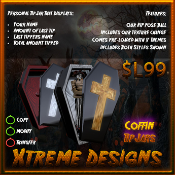 Living Dead Coffin TipJars - Halloween - Coffins