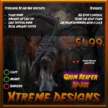 Grim Reaper TipJar - Halloween - Angel of Death