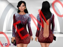 .::voxxi::. DEMO [Bite] Open Back Mini Dress Glitters